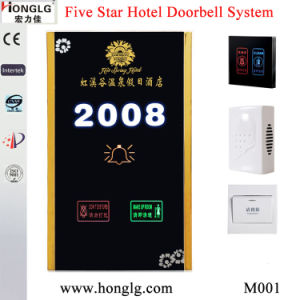 220V Advanced Hotel Customize Printed Logo Touch Screen Dnd Displate/Dnd Doorbell pictures & photos