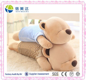 Soft Sleeping Bear Pillow /Exquisite Plush Bear Pillow Toy pictures & photos