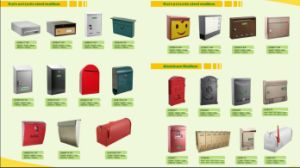 Outdoor Stand up American Post Box, Customized Steel Newspaper Mailbox pictures & photos