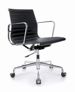 Modern Office Ergonomic Executive Aluminium Hotel Revolving Leather Eames Chair (E001A) pictures & photos