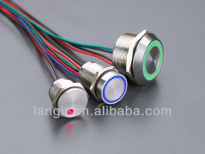 19mm Metal Piezo Switches (DOT LED) Piezoelectric Switch pictures & photos