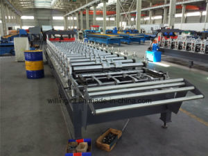 Trapezoidal Galazed Steel Wall Roof Panel Cold Rolling Machine pictures & photos
