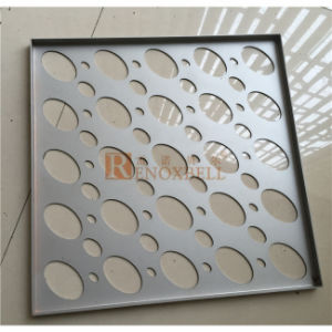 White Aluminum Color Elliptical Holes Perforated Aluminum Panel for Facade pictures & photos