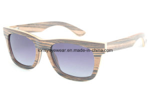 High Quality Newest Polarized Wooden Sunglasses (LS2101-C1)