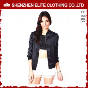 Plus Size Plain Satin Jacket Womens pictures & photos