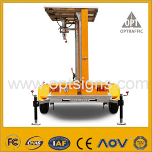 Optraffic Amber Solar Powered Mobile LED Traffic Road Sign Vms pictures & photos