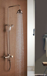 Bathroom Three Functions Shower Set with Golden Color pictures & photos