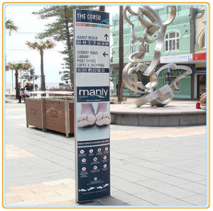 Modulex Wayfinding Sign/Street Direction Pylon Board pictures & photos