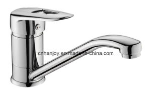 Deck Mounted Single Handle Brass Sink Kitchen Faucet (H05-103) pictures & photos