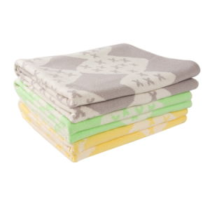 Light Weight Reversible Cotton Knit Baby Blanket CB-K16013 pictures & photos