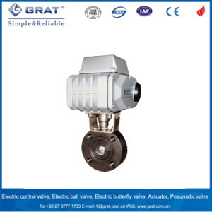Wafer Type Wcb Electric Motorized Control Ball Valve pictures & photos