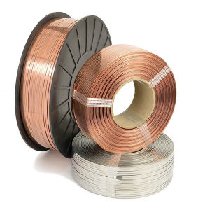 037074G25 Galvanized Flat Stitching Wire for Making Staples, Paper Clip pictures & photos