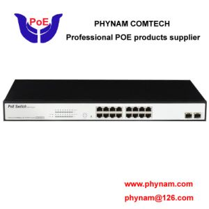 Full Gigabit Poe Switch 16 Port with 2 SFP Uplink Compliant with Hik IP Camera (TS1816G) pictures & photos