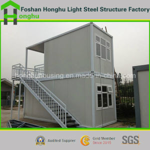 Prefabricated House 2 Floor Steel Building Office Container House for Sale pictures & photos