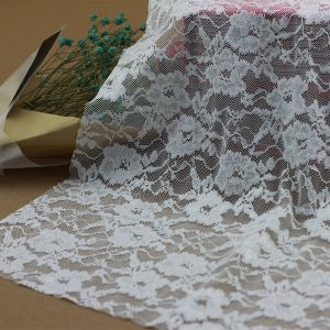 Stretch Embroidery Lace Voile Crochet Fabrics for Garments Accessories