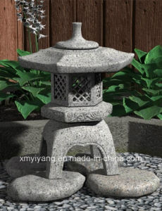 Natural Grey Granite Stone Lantern for Outside Garden pictures & photos
