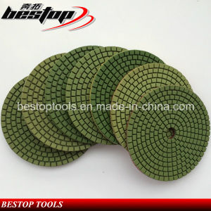 """D100mm/4"""" Diamond Olive Circular Resin Wet Polishing for Granite pictures & photos"""