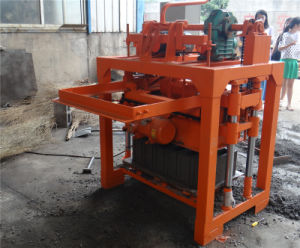 Manual Concrete Hollow Block Making Machine/Concrete Interlocking Block Machine pictures & photos