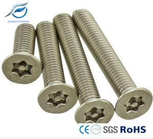 Stainless Steel Countersunk Head Torx Tamperproof Screw with Column Core