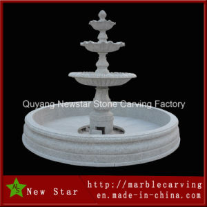 Gray Stone Carving Garden Decoration Fountain Granite Fountain pictures & photos
