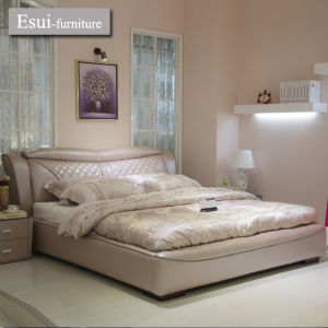 Warming Bedroom Furniture Leather Bed of Home Furniture (9317#)