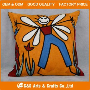Custom Fashion Jacquard Soft Fabric Cushion/Fairy Tale Character pictures & photos