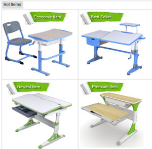 2016 Height Foldable Ergonomic Children Study Table and chair Set Bedroom Furniture Model Hy-C100 pictures & photos
