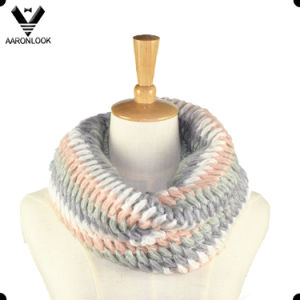 Fashion Acrylic Mohair Knit Snood for Lady pictures & photos