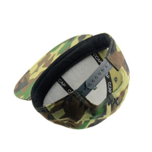 Custom Camouflage Cotton Cap with 3D Embroidery Logo pictures & photos