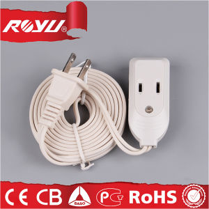 High Quality 220V Universal Flat Electrical Power Extension Cord pictures & photos