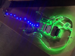 Hanhai Acrylic Electric Guitar with Colorful LED Lights pictures & photos