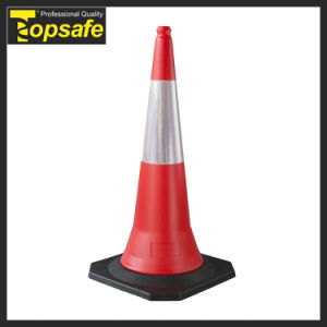 Quality-Assured Black PVC 49*49cm Base Warning Cone pictures & photos