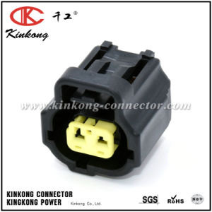China Factory 2 Pin Black Auto Connector pictures & photos