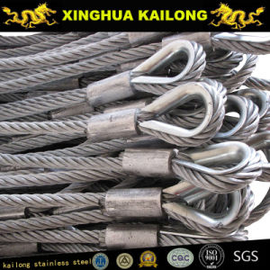 AISI316 7X19-12.0mm Stainless Steel Wire Rope with Thimble pictures & photos