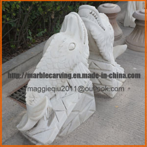White Marble Shark Statue Carving Ma1706 pictures & photos