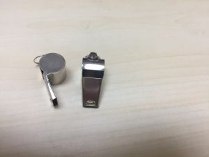 201# Stainless Steel Whistles, Silver Laser Printing Whistle