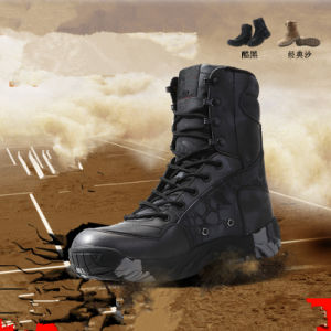 Walking in The Sea! Tactical Gears Desert Water-Proof Military Tactical Outdoor Camping Travel Leather Strong Rubber Sole Boot pictures & photos