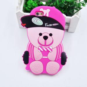 3D Cartoon Soft Hat Bear Silicone Phone Case for iPhone 6 6plus 7 7plus (XSDW-107) pictures & photos
