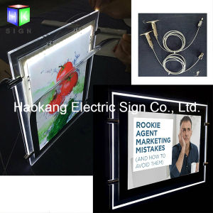 LED Hanging Advertising Acrylic Crystal Light Box for Window Sign pictures & photos