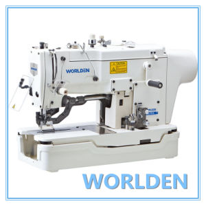 WD-781D Direct Drive High Speed Straight Button Holing Sewing Machine pictures & photos