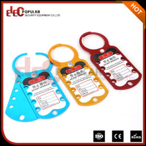 Colorful Secuiry Eight Hole Master Lock Aluminum Hasp pictures & photos