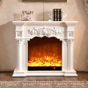Carving European Style Living Room Furniture Electrical Fireplace (318) pictures & photos
