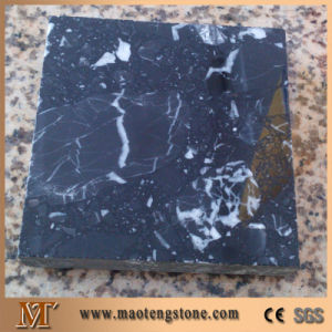 White Black Veins Nero Margiua Stone Artificial Marble Tile pictures & photos