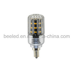 LED Corn Light E12 5W Warm White Silver Color Body LED Bulb Lamp
