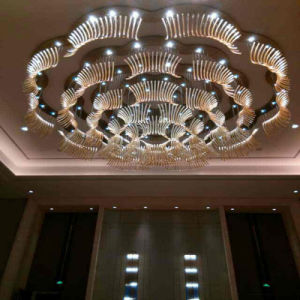 Morden and Big Size Flower Round Hotel Luxury Crystal Pendant Lamp pictures & photos