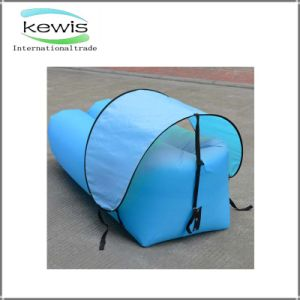 Light Blue Banana Shape Air Sofa for Outdoor Traveling pictures & photos