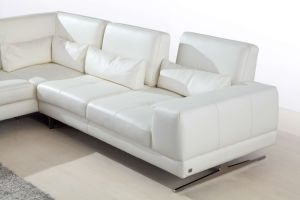 Modern Corner Living Room Sofa White Sofa Sectional with Genuine Leather Sofa Set pictures & photos