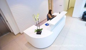 Nice Design Ice White Office Reception Counter Low Price pictures & photos