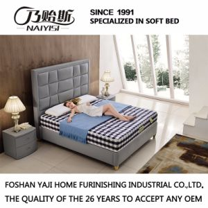 Model Leather King and Queen Size Bed Furniture G7009 pictures & photos