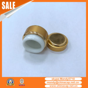 Wholesale Nail Use Golden Aluminum Cream Jar with Lid pictures & photos